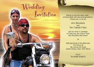 Motorcycle Wedding Invitations Motorcycle Wedding