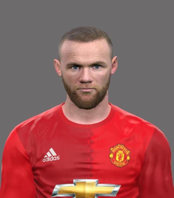 Wayne Rooney Face With Beard PES 2017
