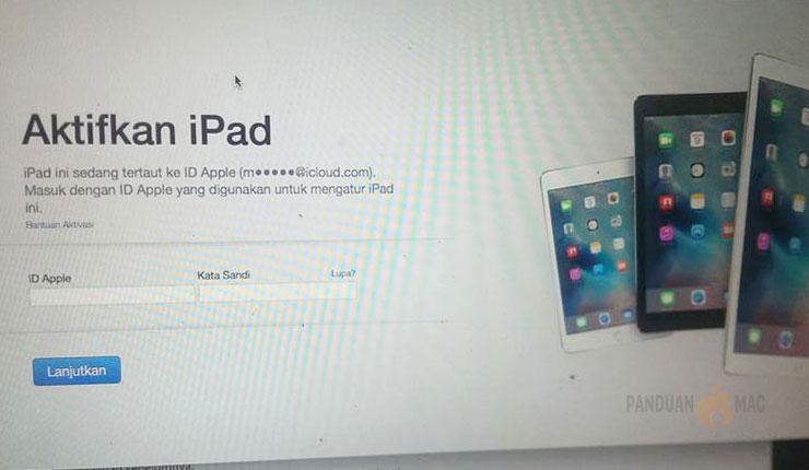 Cara Mudah Aktifkan iPad Terkunci Karena Lupa Password