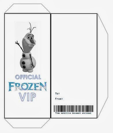 Jennuine by Rook No 17* Movie Ticket Style FROZEN Party - free printable ticket style invitations