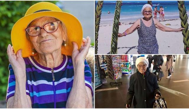 Tem Na Web - Vovó de 91 anos viaja o mundo sozinha e compartilha nas redes as fotos de todos os passeios