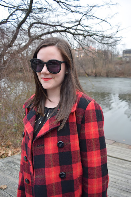 Sequins and Skulls: Red Plaid & Gold Shimmer