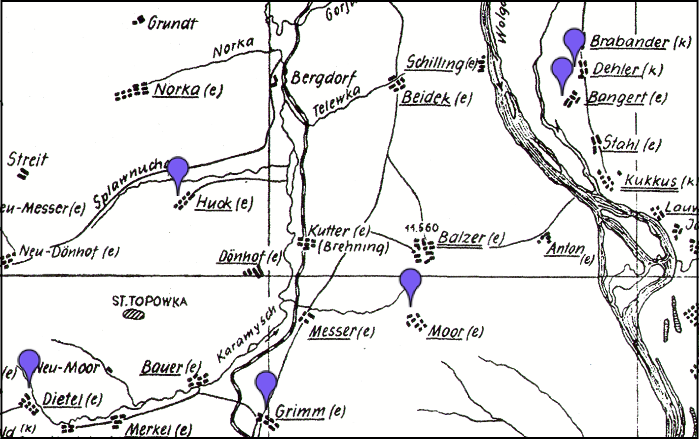Germans From Russia Settlement Locations On This Day 1