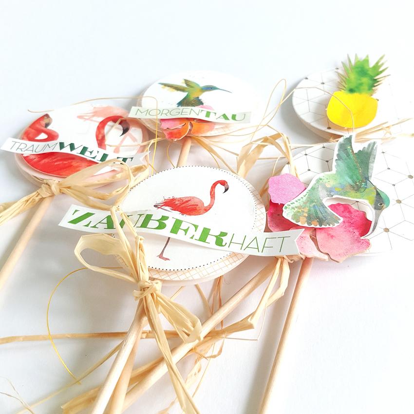 Paper Topper | Janna Werner | Flamingo Ananas Kolibri