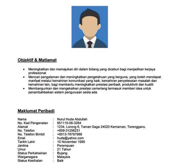 Contoh Objektif Kerja Dalam Resume