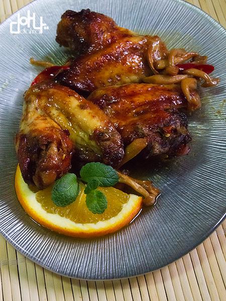 Divinas alitas de pollo con un adobo espectacular.