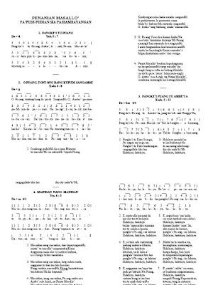 Kumpulan Lirik Lagu Nanian Kombongan, Papudian dan Masallo