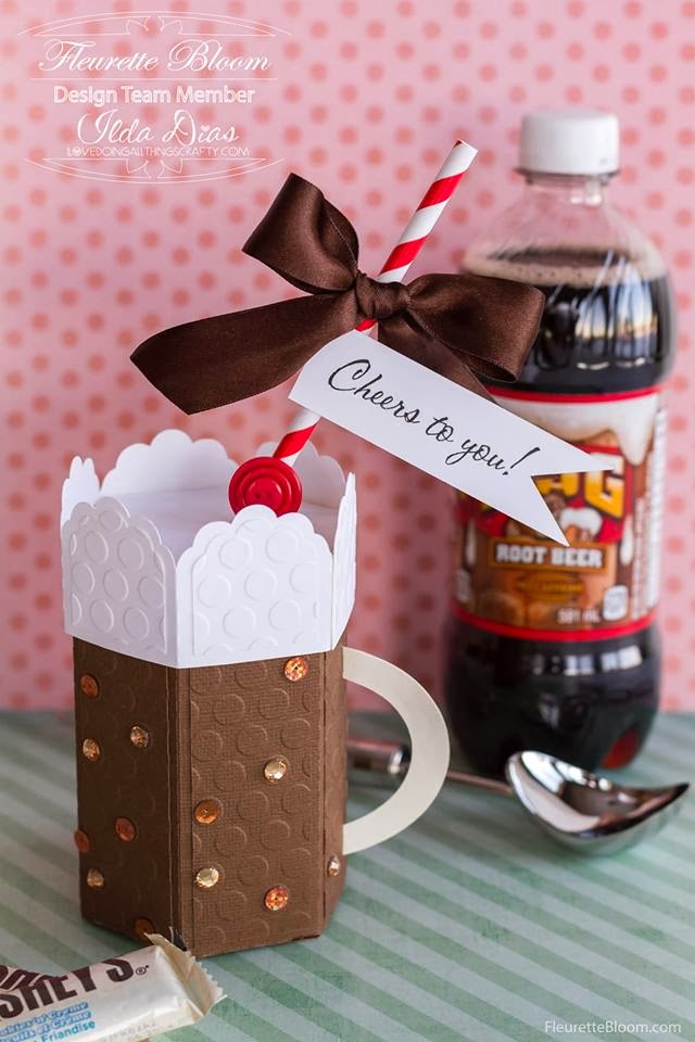 3D Paper Root Beer Float Treat Box | Ink On 3 Files