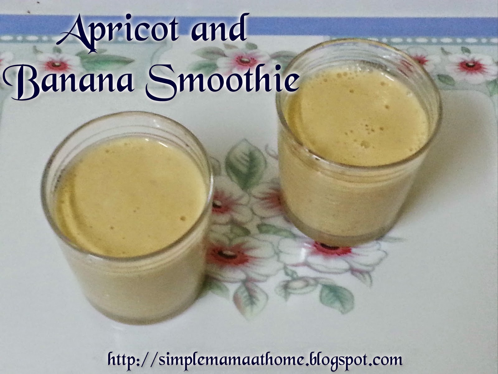 Apricot and Banana Smoothie