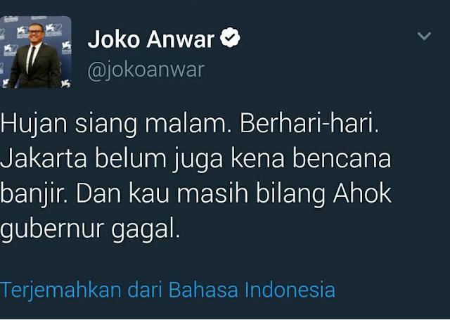 "Lima Selebriti yang Menantang Allah ""Hujan Berhari-hari Jakarta Belum Kena Banjir"""