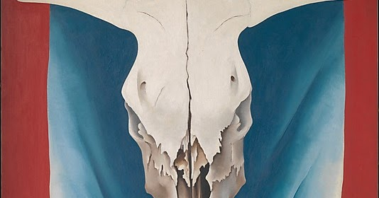 Cow Skull Canvas Painting