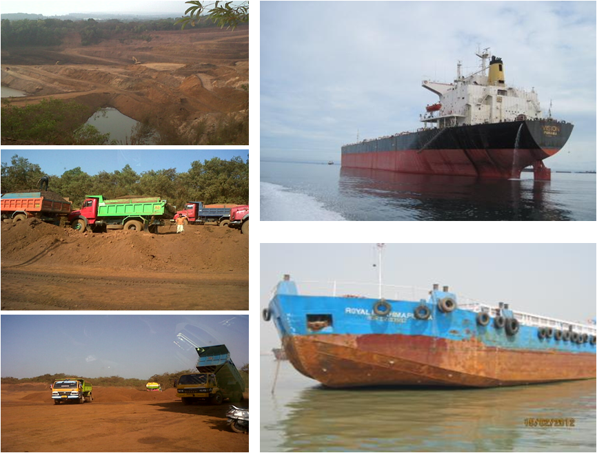 iron ore handling services in goa, iron ore barge services in goa, iron ore transport services in goa