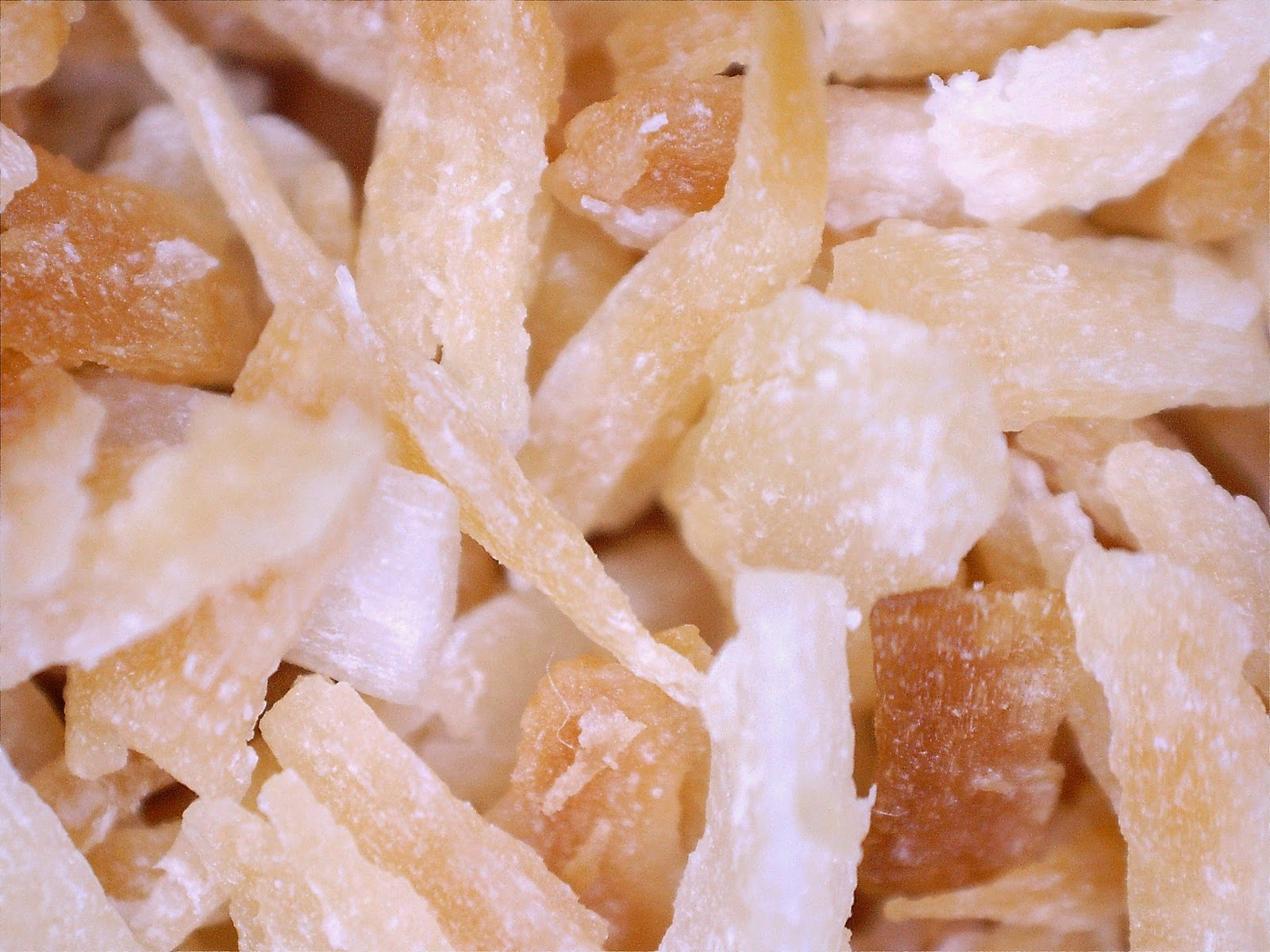 Toasted coconut, really closeup.