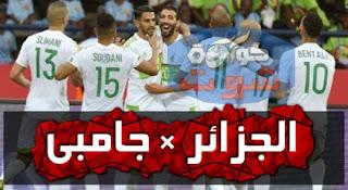 جامبيا تخطف تعادلا قاتلا من الجزائر فى آخر جولة بتصفيات أفريقيا بالفيديو