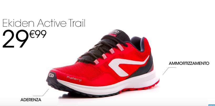Nuove scarpe decathlon pubblicità