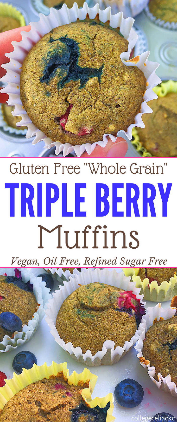 Craving a blueberry muffin recipe that is free of allergens but packed with flavor? Check out thes #glutenfree, #vegan and refined #sugarfree muffins!