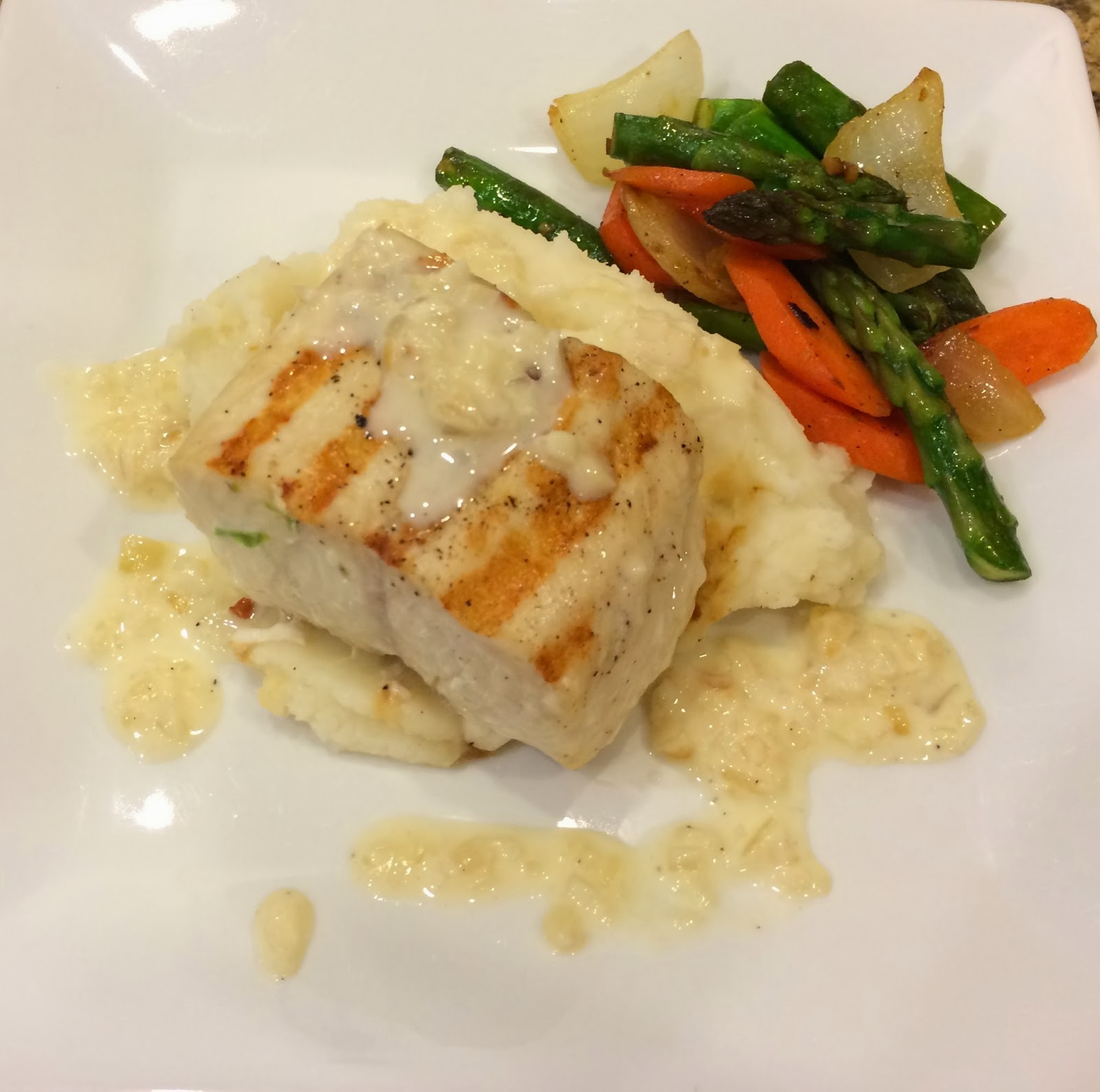 Taste of hawaii grilled ono with garlic cream sauce for Ono fish recipe