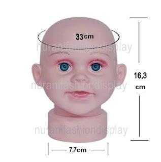 Patung Manekin Kepala Anak Bayi