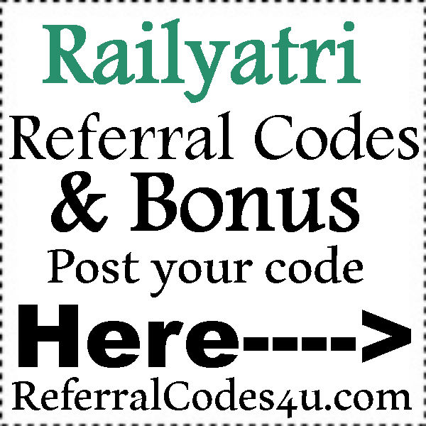 Railyatri Referral Codes 2016-2017, Railyatri Sign Up Bonus, Railyatri Reviews
