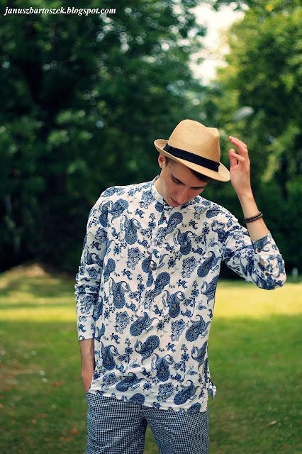 męska koszula z tureckim wzorem