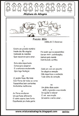 Poesia sobre a mamãe