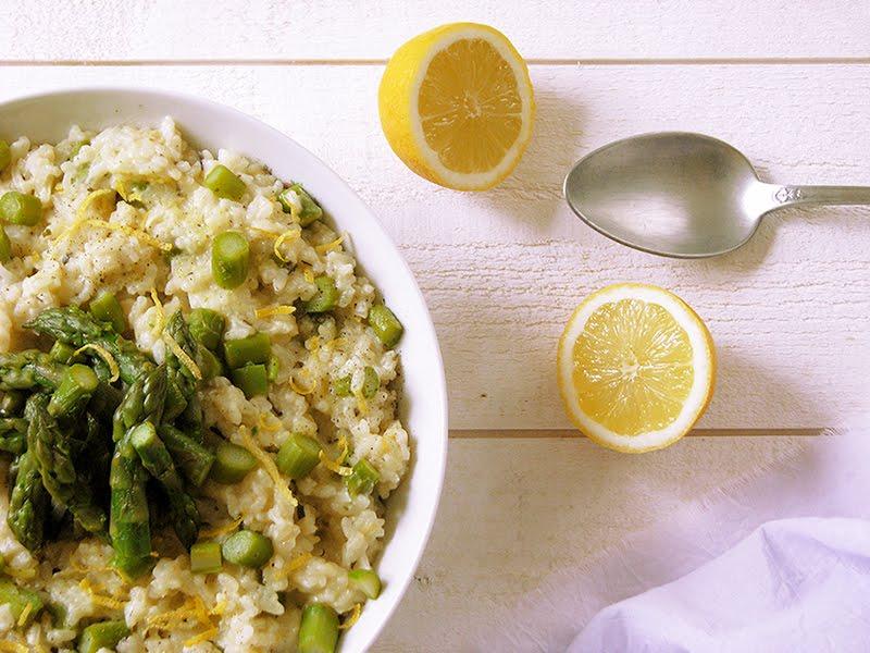 risotto aux asperges et au citron recettes bio green lifestyle. Black Bedroom Furniture Sets. Home Design Ideas