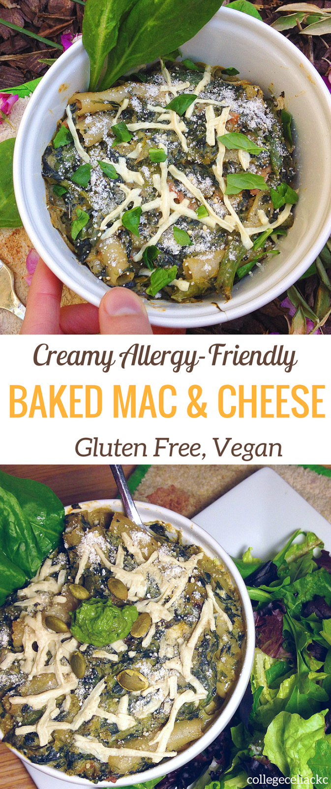 Creamy Gluten Free and Vegan Baked Mac and Cheese
