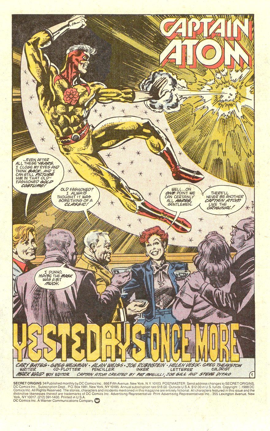 Read online Secret Origins (1986) comic -  Issue #34 - 2
