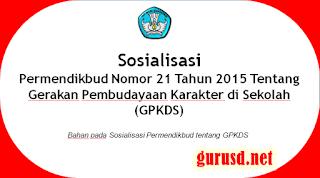 Panduan Gerakan Pembudayaan Karakter di Sekolah/GPKDS
