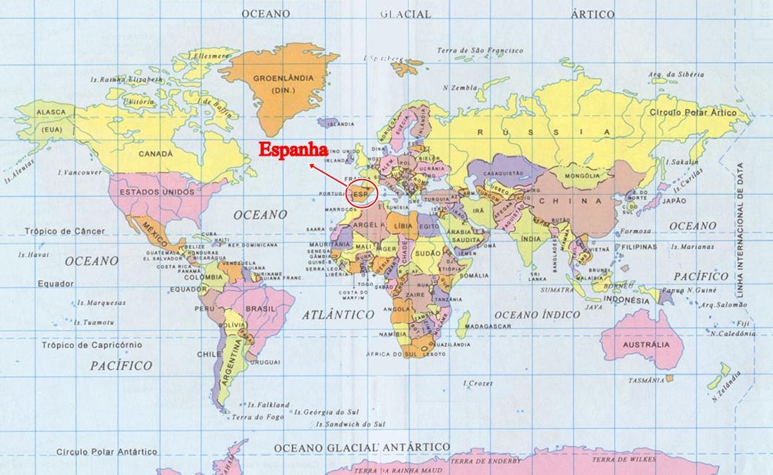 o mapa de espanha Tudo sobre a Espanha: Localização da Espanha no Mapa Mundi. o mapa de espanha