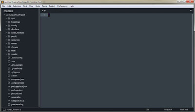 Laravel Vue project inside sublime text 3
