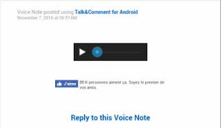 طريقة وضع تعليقات صوتية لمنشورات ٱصدقائك او منشوراتك على الفيسبوك عن طريق الهاتف
