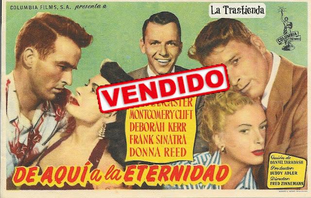 Programa de Cine - De Aqui a la Eternidad - Burt Lancaster - Montgomery Clift - Deborah Kerr - Frank Sinatra