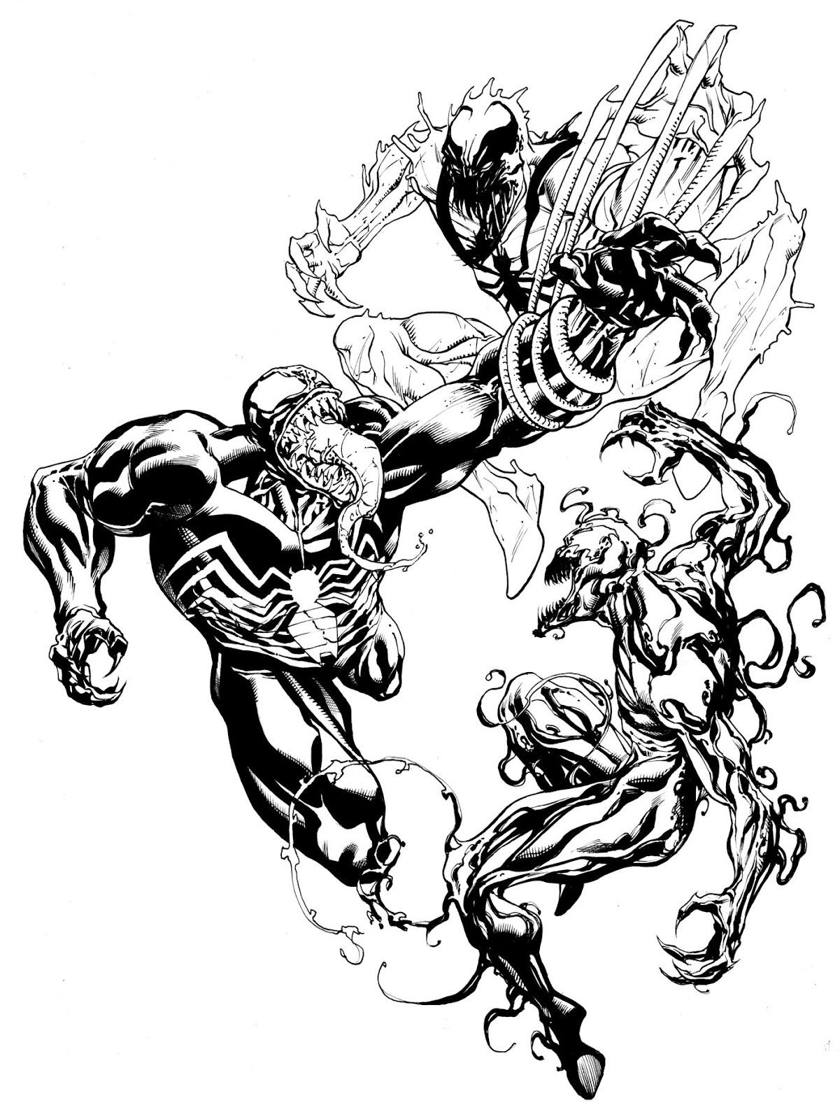 Spiderman vs carnage drawings - photo#53