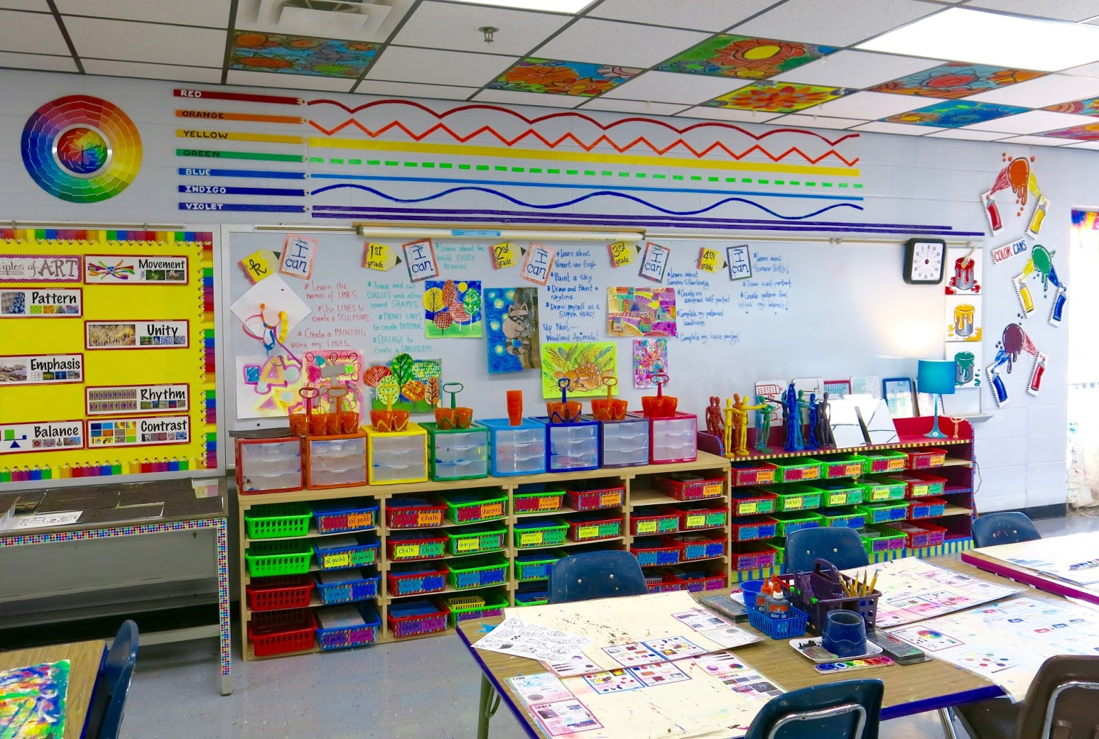 Cassie stephens in the art room spray paint wall display - Supplies for painting a room ...