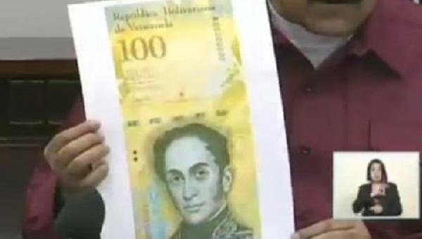 ¡Hiperinflación! Venezuela lanza billete de Bs. 100.000. Representa $ 2.2