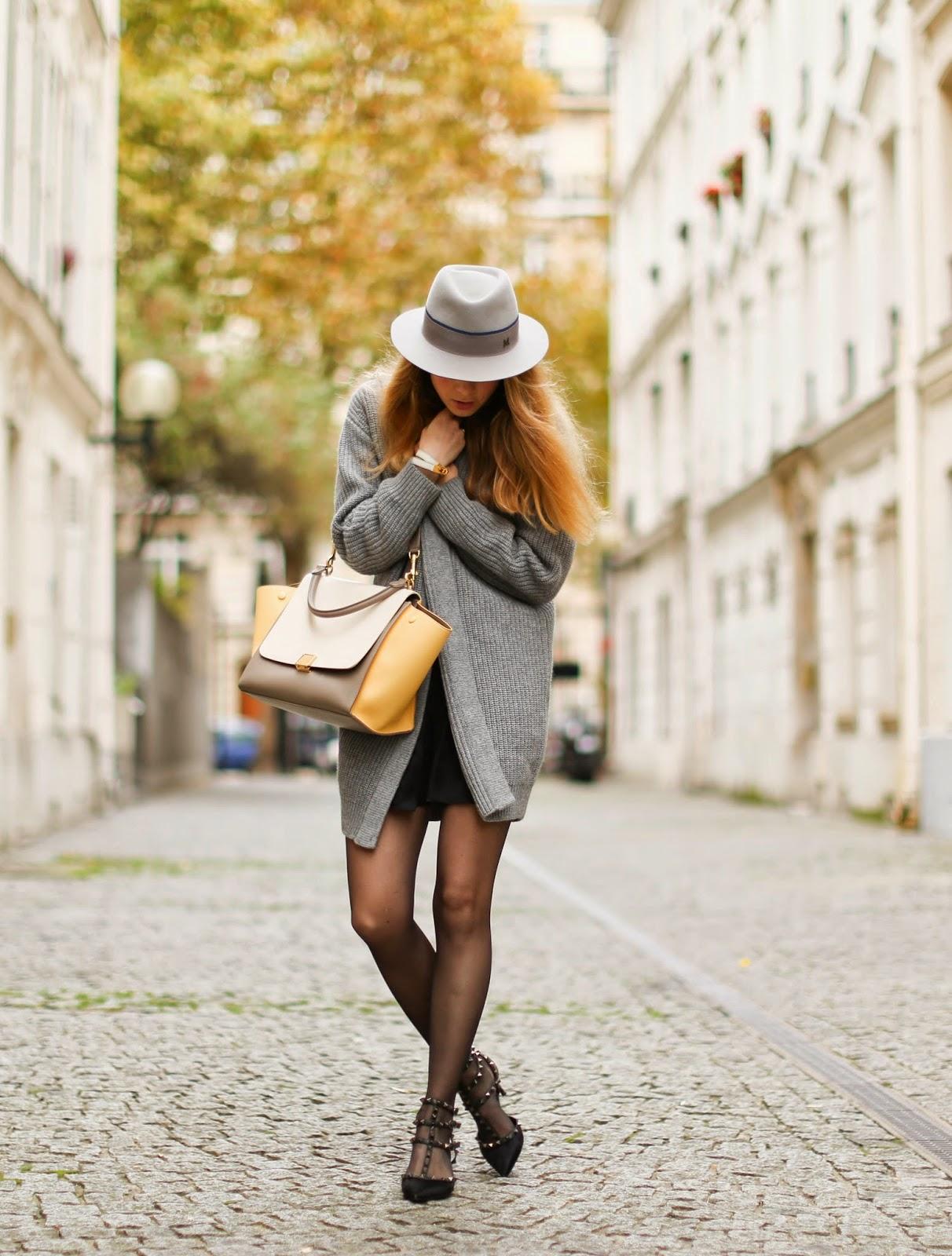 cardigan, maison michel, &otherstories, valentino, valentino rockstuds, céline, isabel marant, streetstyle, fashion blogger