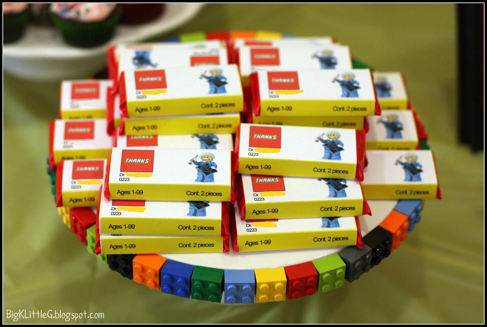 Big K Little G Surprise Lego Party