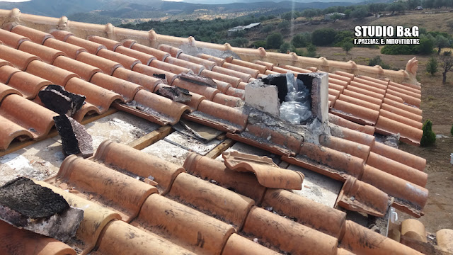 Από θαύμα δεν θρηνήσαμε θύματα όταν κεραυνός έπεσε σε σπίτι στο Ηλιόκαστρο Αργολίδας
