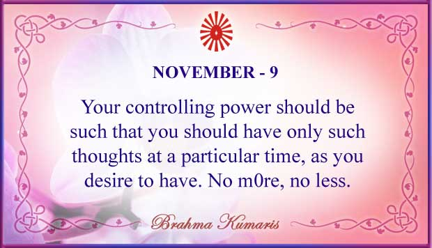Thought For The Day November 9