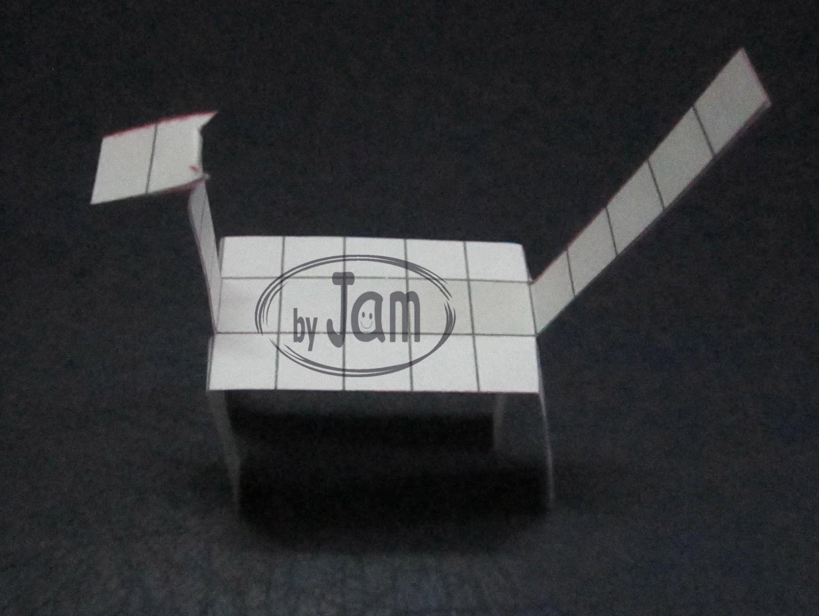 ของเล่น ม้ากระดาษเดินได้ ทำของเล่น สื่อการสอน  paper craft horse tokotoko horse