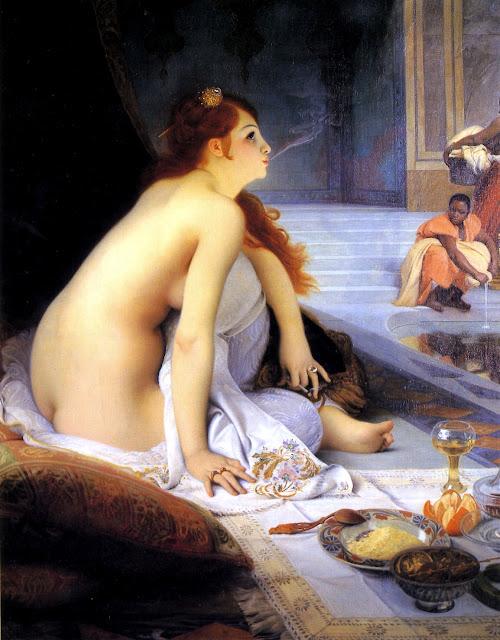 Jean-Jules-Antoine Lecomte du Nouy - la schiava bianca - erotismo - orientalismo