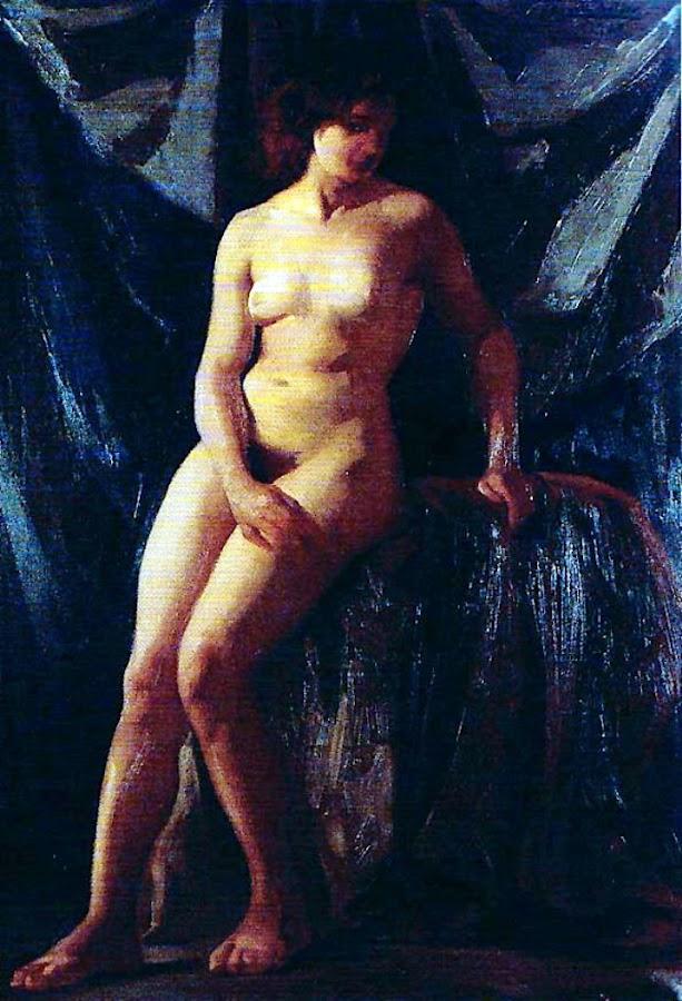 Desnudo académico, Félix Revello de Toro, Revello de Toro, Pintores Malagueños, Retratos de Revello de Toro, Pintor español, Pintores de Málaga, Pintor Revello de Toro