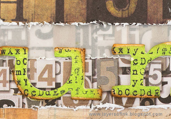 Layers of ink - Notebook Paper Layout by Anna-Karin Evaldsson with Tim Holtz Storybook