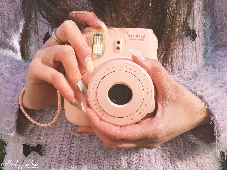 polaroid camera, mermaid nails, jfashion