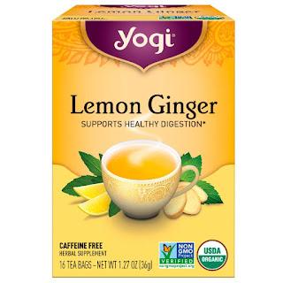شاي زنجبيل و ليمون من يوغي