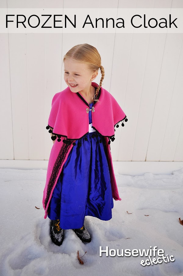 How to make Annau0027s cloak from frozen Anna Cape Frozen Costumes  sc 1 st  Housewife Eclectic & Tutorial: FROZEN Anna Cloak - Housewife Eclectic