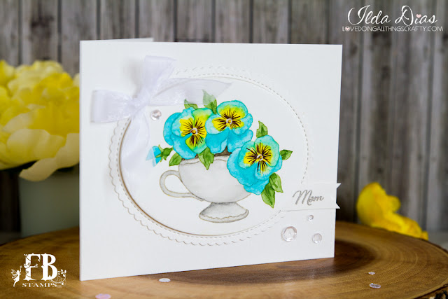 Pansies for Mom - Mother's Day Card by ilovedoingallthingscrafty