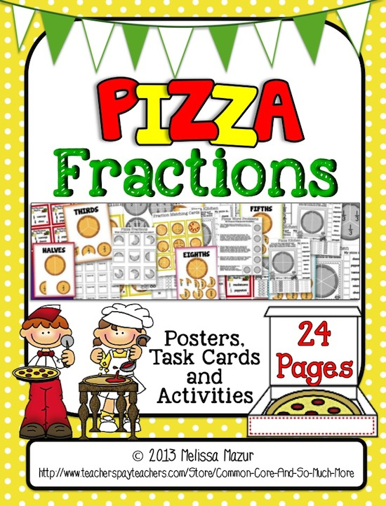 Grades 3 - 5 Fractions Clip Art   Teachers Pay Teachers