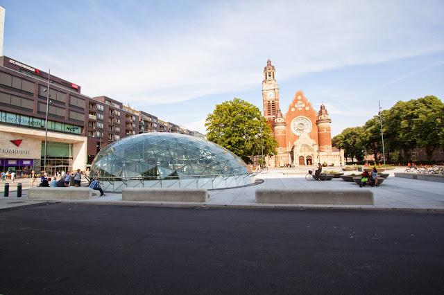 Malmo-Stazione Trianglen e chiesa di San Giovanni